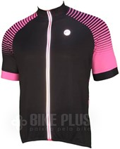 Camisa Ciclismo Barbedo Vesta Preta e Rosa