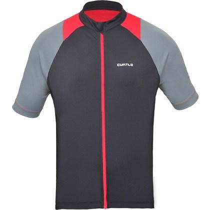 Camisa Ciclismo Curtlo Sprinter II Preta Cinza e Vermelha