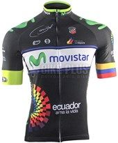 Camisa Ciclismo ERT Elite Equipe Movistar Ecuador