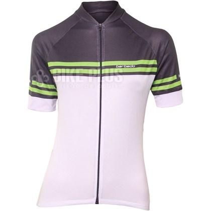 Camisa Ciclismo Feminina Barbedo Ariadne Preta Branca