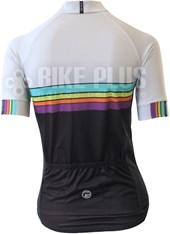 Camisa Ciclismo Feminina Barbedo Colore Branca e Preta