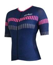Camisa Ciclismo Feminina Ciclopp Arrow Azul e Rosa