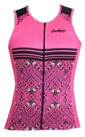 Camisa Ciclismo Feminina Ciclopp Tribus Rosa