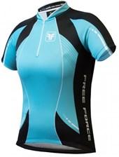 Camisa Ciclismo Feminina Free Force Aurora Azul Turquesa