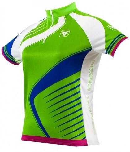Camisa Ciclismo Feminina Free Force Needle Verde