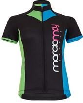 Camisa Ciclismo Feminina Light Marcio May Arrow Preta Azul e Verde