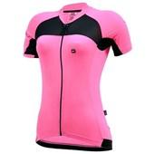 Camisa Ciclismo Feminina Marcio May Elite Rosa e Preta