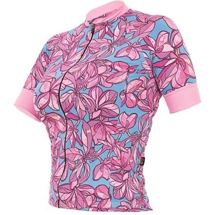 338bcf9ef Camisa Ciclismo Feminina Marcio May Funny Flowers Rosa - Bike Plus