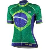 Camisa Ciclismo Feminina Mauro Ribeiro Brasil Special