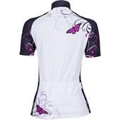 Camisa Ciclismo Feminina Mauro Ribeiro Butterfly Preta e Branca