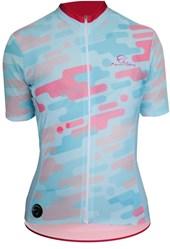 Camisa Ciclismo Feminina Mauro Ribeiro Camuflada Azul
