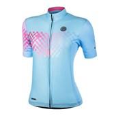 Camisa Ciclismo Feminina Mauro Ribeiro Link Azul e Rosa