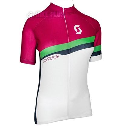 Camisa Ciclismo Feminina Scott Endurance 20 2016 Rosa Verde - Bike Plus 09fe2a695f21f
