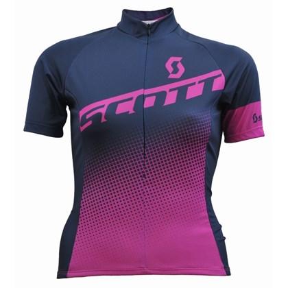 Camisa Ciclismo Feminina Scott Endurance 40 2017 Preta e Roxa
