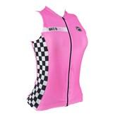 Camisa Ciclismo Feminina Sem Mangas Barbedo Race Girls Pink