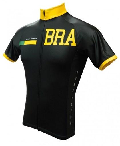Camisa Ciclismo Free Force Brasil Dark Preta