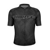 Camisa Ciclismo High One Montano Preta e Cinza