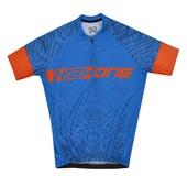 Camisa Ciclismo Infantil High One Piccolo Azul e laranja