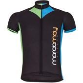 Camisa Ciclismo Light Marcio May Arrow Preta Azul e Verde