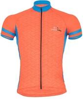 Camisa Ciclismo Light Marcio May Elos Laranja e Azul