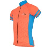 Camisa Ciclismo Light Marcio May Elos Laranja e Azul