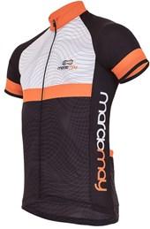 Camisa Ciclismo Light Marcio May Waves Preto e Laranja