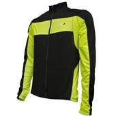 Camisa Ciclismo Louis Garneau Ventila Manga Longa 2017 Preta e Neon