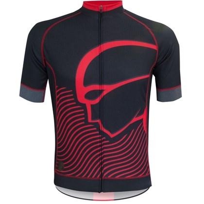 Camisa Ciclismo Mauro Ribeiro Authentic Preta e Vermelha