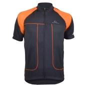 Camisa Ciclismo Mauro Ribeiro Essence Preta e Laranja