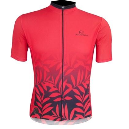Camisa Ciclismo Mauro Ribeiro Leaf Vermelha