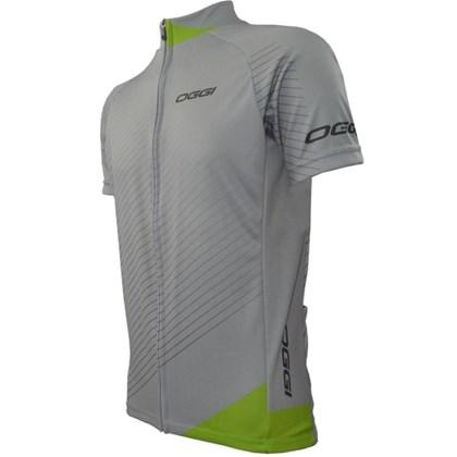 Camisa Ciclismo Oggi Veloce Cinza e Verde