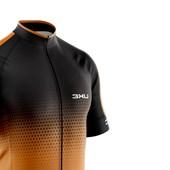 Camisa Ciclismo Refactor Huracan Preta e Laranja
