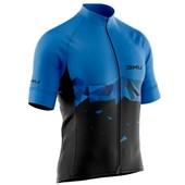 Camisa Ciclismo Refactor Inception Preta e Azul