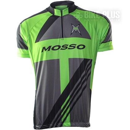 Camisa Ciclismo Refactor Mosso Cinza e Verde