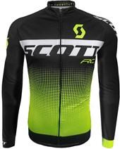 Camisa Ciclismo Scott RC Pro 2017 Manga Longa Preta e Neon