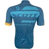 Camisa Ciclismo Scott RC Team 10 2017 Azul e Amarela
