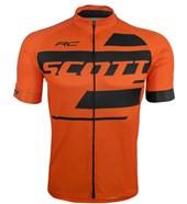 Camisa Ciclismo Scott RC Team 10 2017 Laranja e Preta