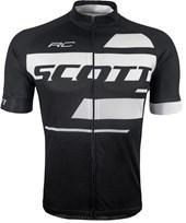 Camisa Ciclismo Scott RC Team 10 2017 Preta e Branca