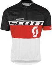 Camisa Ciclismo Scott RC Team 2016 Branca e Vermelha