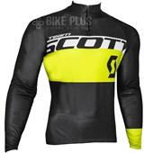 Camisa Ciclismo Scott RC Team 2016 Manga Longa Preta Amarela