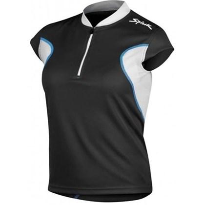 Camisa Ciclismo Spiuk Anatomic Feminina Preto Branca