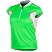 Camisa Ciclismo Spiuk Anatomic Feminina Verde Branca