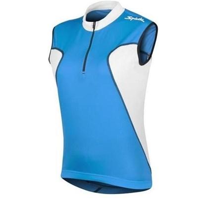 Camisa Ciclismo Spiuk Anatomic Sem Mangas Azul Branca