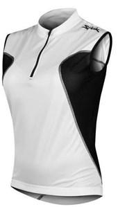 Camisa Ciclismo Spiuk Anatomic Sem Mangas Branca Preta