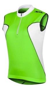 Camisa Ciclismo Spiuk Anatomic Sem Mangas Verde Branca