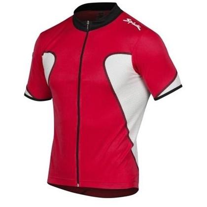 Camisa Ciclismo Spiuk Anatomic Vermelha Branca