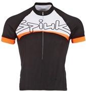 Camisa Ciclismo Spiuk Eci Masculina Preta laranja