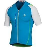 Camisa Ciclismo Spiuk Elite Masculina Azul Branca