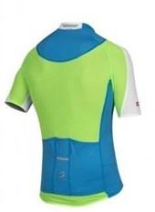 Camisa Ciclismo Spiuk Elite Masculina Azul Branco