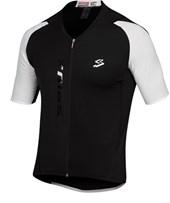 Camisa Ciclismo Spiuk Elite Masculina Preta Branca